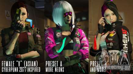 Cyberpunk Custom Female Ped для GTA 5