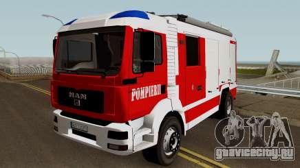 MAN TGA Pompierii (Romanian Firetruck) 2010 для GTA San Andreas