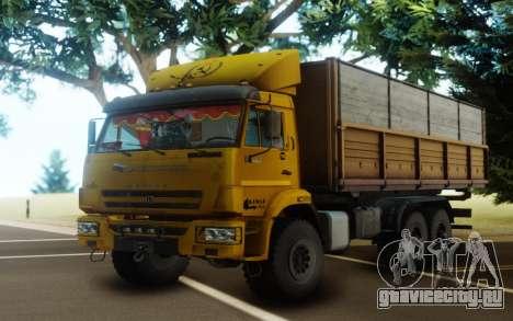 КамАЗ 43118 Бортовой с прицепом для GTA San Andreas