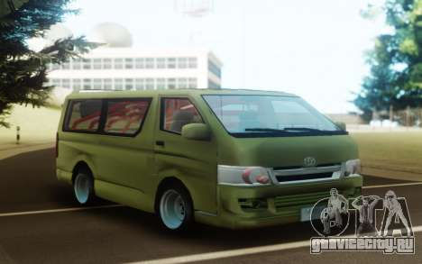 Toyota Hiace Drift для GTA San Andreas