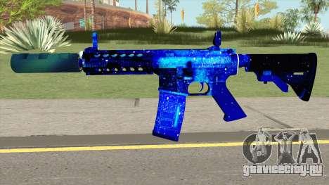 M4A1 Blue Space Silenced для GTA San Andreas