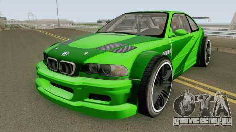 BMW M3 E46 GTR Most Wanted (2012 Style) V1 2001 для GTA San Andreas