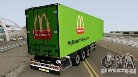 McDonald Recycling Trailer для GTA San Andreas