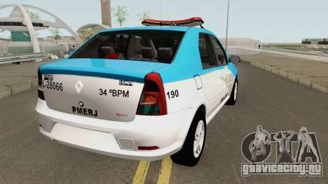 Renault Logan 2011 PMERJ для GTA San Andreas
