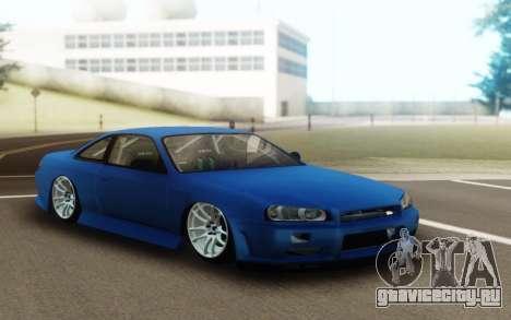 Nissan Silvia S14 Facelift R34 для GTA San Andreas