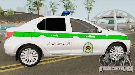 Renault Logan 2016 Policia Iranian для GTA San Andreas