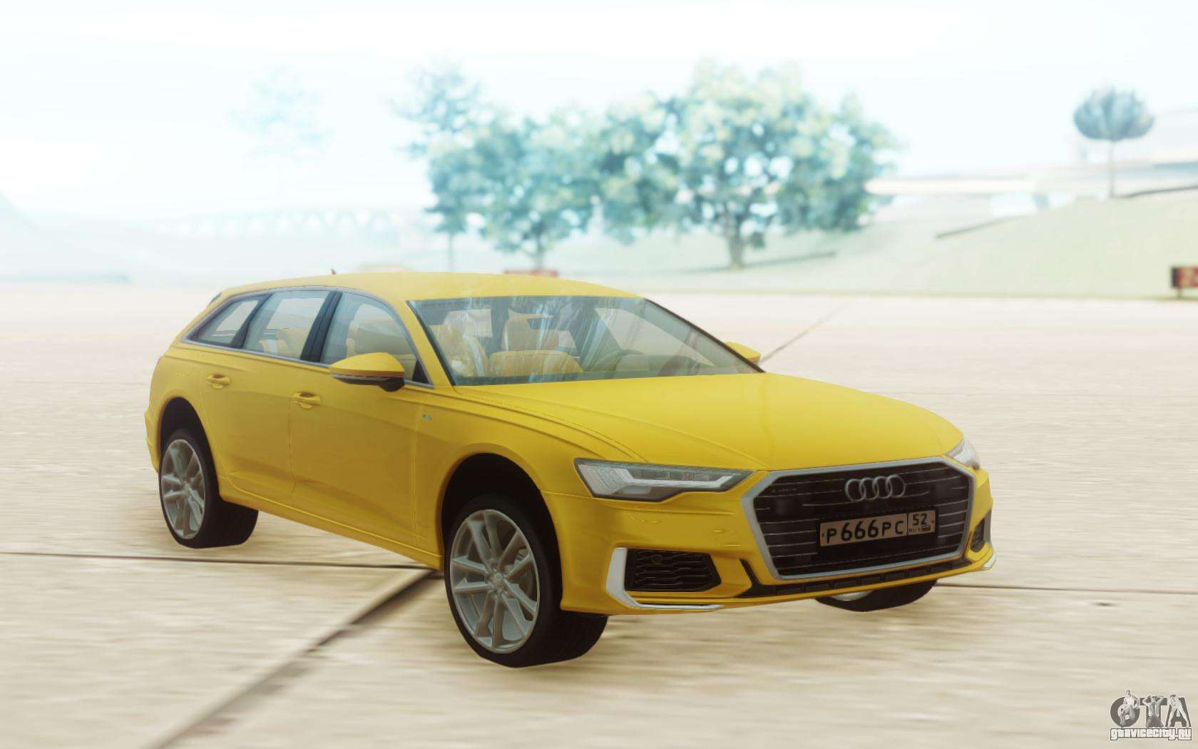 Audi A6 2019 Yellow Dlya Gta San Andreas