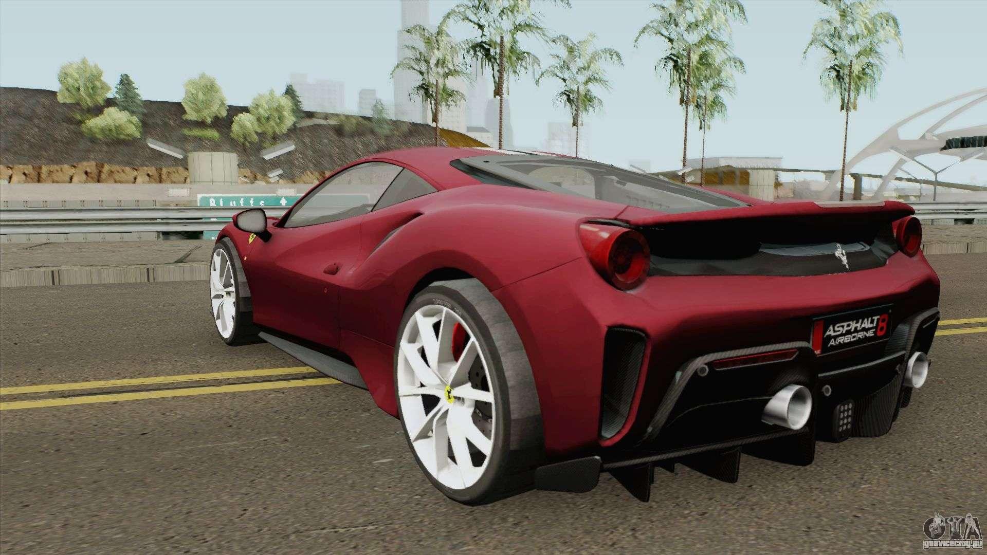 Ferrari 488 Pista 2019 High Quality для Gta San Andreas