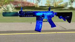 M4A1 Blue Space Silenced для GTA San Andreas