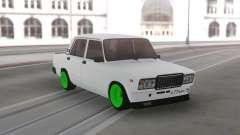 ВАЗ 2107 Зеленые колеса для GTA San Andreas