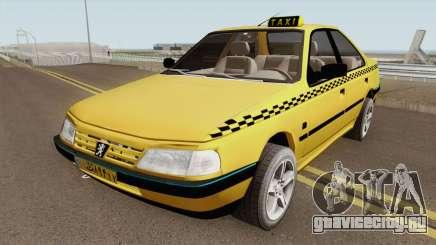 Peugeot 405 GLX TAXI NEW v2 для GTA San Andreas