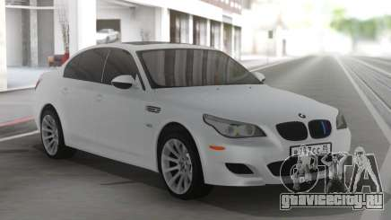 BMW M5 E60 Clear White для GTA San Andreas