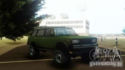 ВАЗ 2104 на раме и с двигателем УАЗа для GTA San Andreas