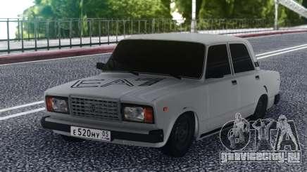 ВАЗ 2107 Низкий Белый для GTA San Andreas