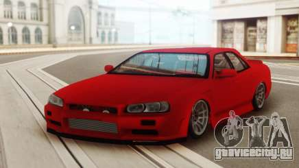 Nissan Skyline ER 34 Red для GTA San Andreas