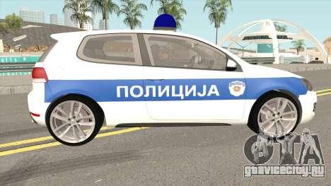 Volkswagen Golf VI Serbian Police для GTA San Andreas