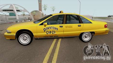 Chevrolet Caprice 1991 Taxi для GTA San Andreas