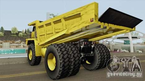 Caterpillar Dumper Basculante для GTA San Andreas