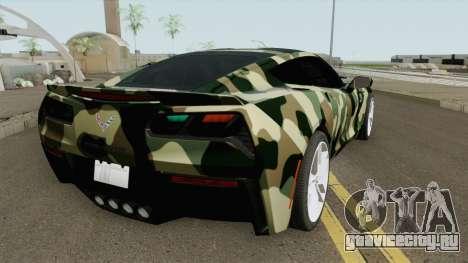 Chevrolet Corvette C7 (Army Style) для GTA San Andreas