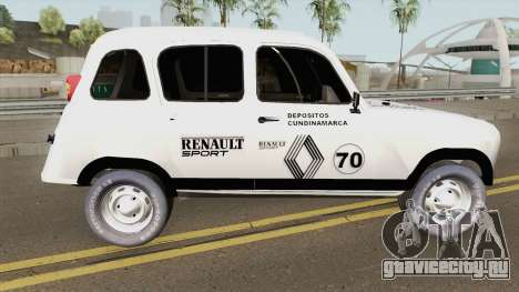 Renault 4 Rally of Pablo Escobar Series для GTA San Andreas