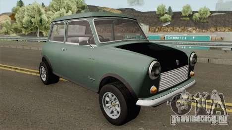 British Leyland Mini 1000 1977 Black Bonnet для GTA San Andreas