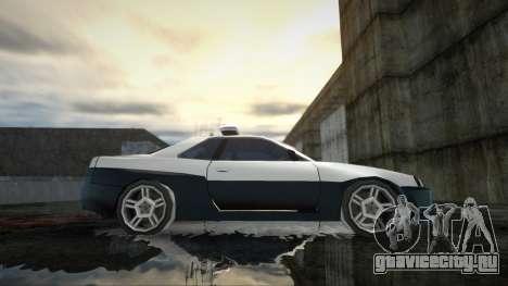 Nissan Skyline R34 Police Low Poly для GTA San Andreas