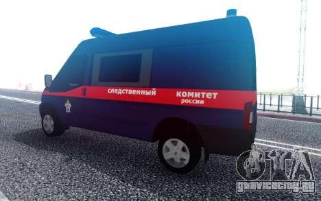 Ford Transit Следственного комитета РФ для GTA San Andreas