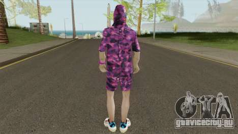 Skin BAPE Purple Camo для GTA San Andreas