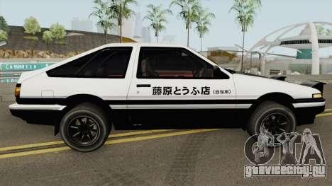 Toyota AE86 Initial D (Final) Fujiwara Takumi для GTA San Andreas