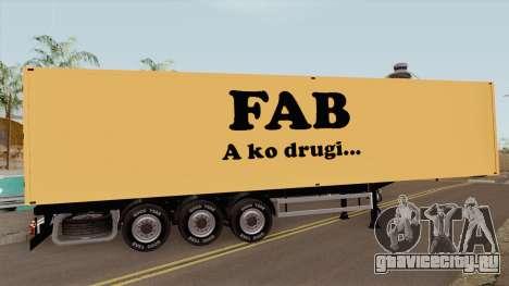 FAB Trailer для GTA San Andreas