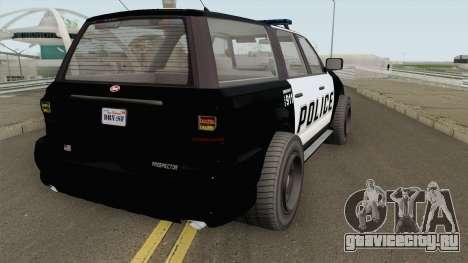Vapid Prospector Police V2 GTA V для GTA San Andreas