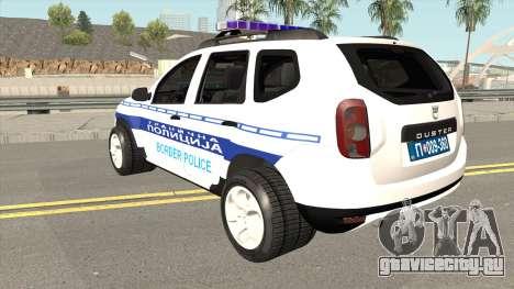 Dacia Duster Serbian Border Police для GTA San Andreas