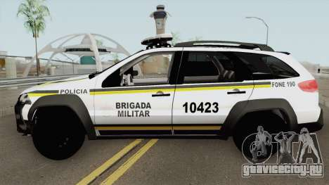 Fiat Palio Weekend Brazilian Police (White) для GTA San Andreas