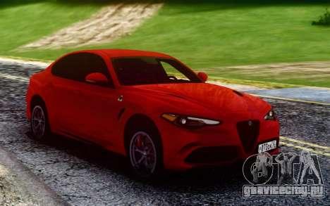 Alfa Romeo Giulia Quadrifoglio 17 для GTA San Andreas
