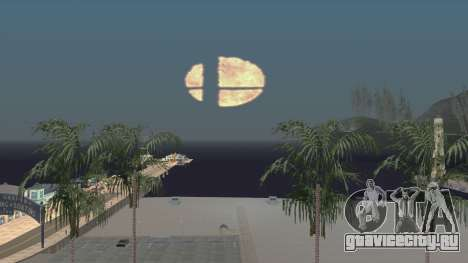 Smash Ball On Fire In The Night Sky для GTA San Andreas