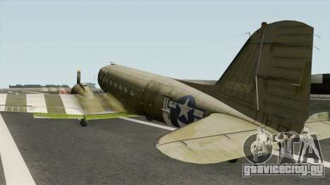 Douglas C-47 Skytrain для GTA San Andreas