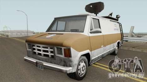 Newsvan Van Reportagem (Emissoras BR) TCGTABR для GTA San Andreas