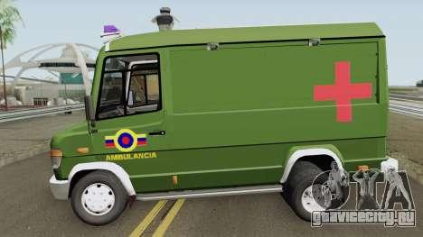 Mercedes-Benz Vario 512D Ambulancia Militar для GTA San Andreas