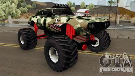 Pontiac Firebird Camo Shark Monster Truck 1968 для GTA San Andreas