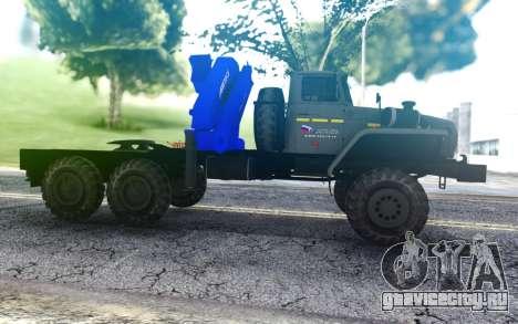 Седельный тягач Урал 4320-1912-72 с КМУ АНТ 22-2 для GTA San Andreas