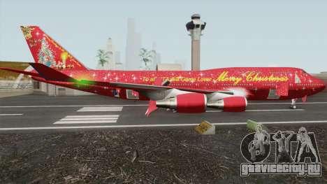 Boeing 747-400 Christmas для GTA San Andreas