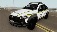 Fiat Palio Weekend Brazilian Police (White) для GTA San Andreas