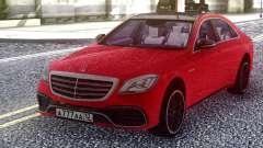 Mercedes-Benz S63 W222 2018 Red для GTA San Andreas