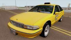 Chevrolet Caprice 1991 Taxi HQ для GTA San Andreas