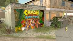 Crash Bandicoot N. Sane Trilogy Wall Garage CJ для GTA San Andreas