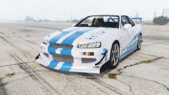 Nissan Skyline GT-R (BNR34) 1999 [replace] для GTA 5