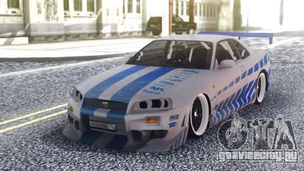 Nissan Skyline R34 FnF Sport для GTA San Andreas