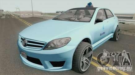 Benefactor Schafter Blue Bird Taxi GTA V для GTA San Andreas
