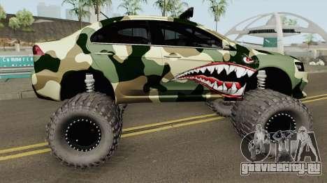 Mitsubishi Evolution X Off Road Camo Shark для GTA San Andreas