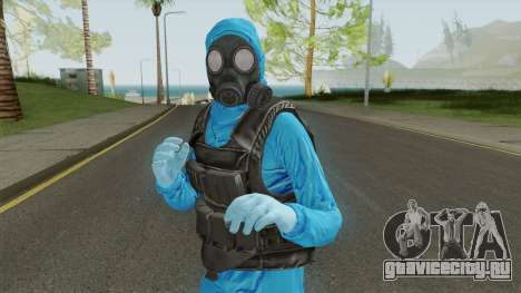 HazMat Skin Blue для GTA San Andreas
